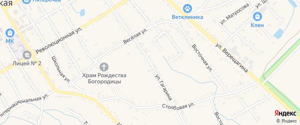 Улица Гагарина на карте Ханской станицы с номерами домов