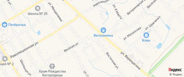 Веселая улица на карте Звездочки с номерами домов