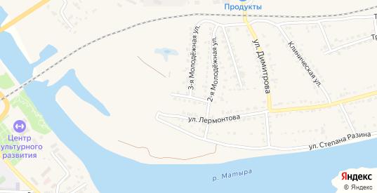 Молодежная 2-я улица в Грязях с номерами домов на карте. Спутник и схема онлайн