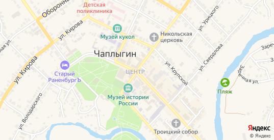 Улица Горького в Чаплыгине с номерами домов на карте. Спутник и схема онлайн