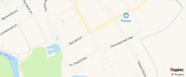 Новая Интернациональная улица на карте Ханской станицы с номерами домов