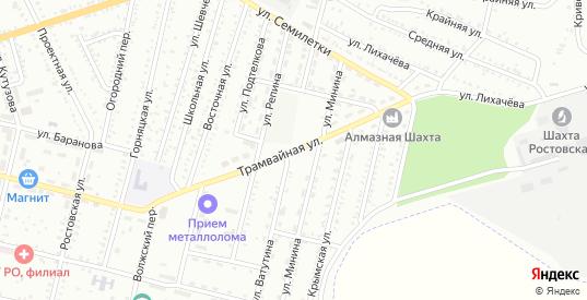 Трамвайная улица в Гуково с номерами домов на карте. Спутник и схема онлайн