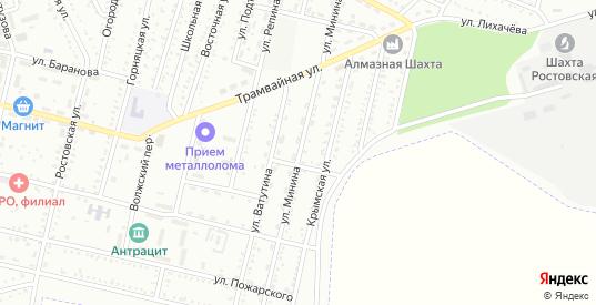 Улица Минина в Гуково с номерами домов на карте. Спутник и схема онлайн
