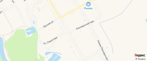 Пионерский переулок на карте Ханской станицы с номерами домов