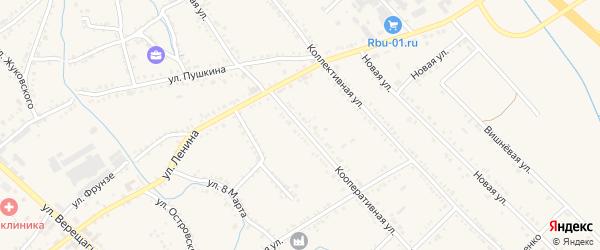 Кооперативная улица на карте Ханской станицы с номерами домов