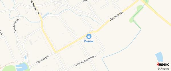 Лесная улица на карте Ханской станицы с номерами домов