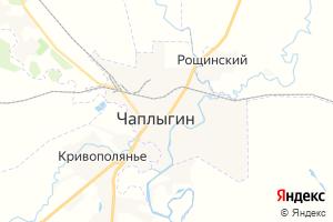 Карта г. Чаплыгин Липецкая область
