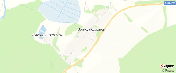 Карта села Александровки в Рязанской области с улицами и номерами домов