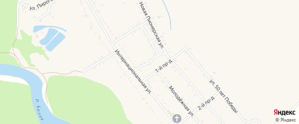 Майкопская улица на карте Ханской станицы с номерами домов