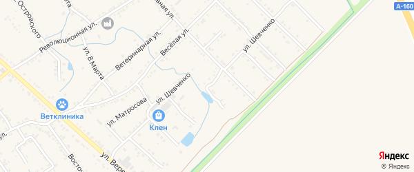 Улица Шевченко на карте Ханской станицы с номерами домов