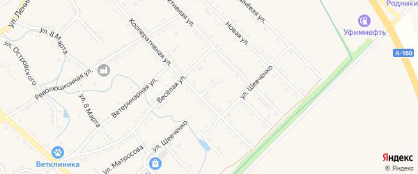 Новая Кооперативная улица на карте Ханской станицы с номерами домов