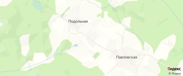 Карта Самойловской деревни в Вологодской области с улицами и номерами домов