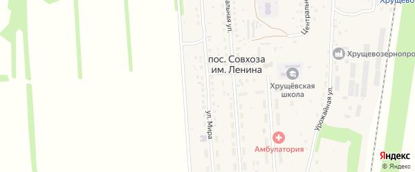 Улица Мира на карте поселка Совхоза имени Ленина Рязанской области с номерами домов