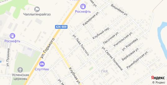 Клубный переулок в Чаплыгине с номерами домов на карте. Спутник и схема онлайн