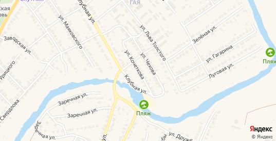 Улица Кочеткова в Чаплыгине с номерами домов на карте. Спутник и схема онлайн