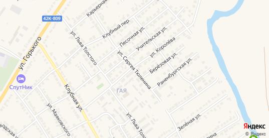 Улица С.Тюленина в Чаплыгине с номерами домов на карте. Спутник и схема онлайн