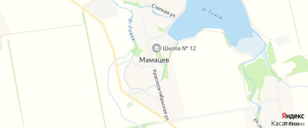 Карта хутора Мамацева в Адыгее с улицами и номерами домов
