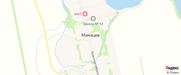 Дорога А/Д Подъезд к х. Мамацев на карте хутора Мамацева Адыгеи с номерами домов