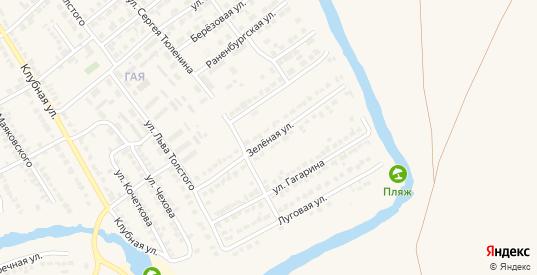 Зеленая улица в Чаплыгине с номерами домов на карте. Спутник и схема онлайн
