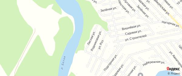 Лесная улица на карте Красноречия с номерами домов