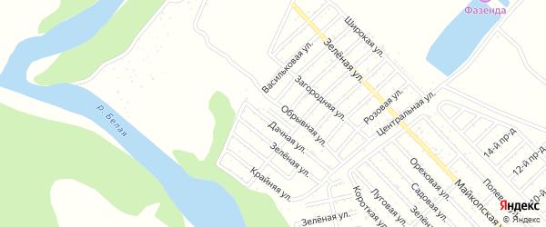 Низовая улица на карте Майкопа с номерами домов