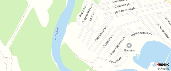 Отрадная улица на карте Красноречия с номерами домов