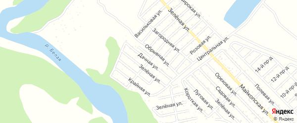 Дачная улица на карте Росинки с номерами домов