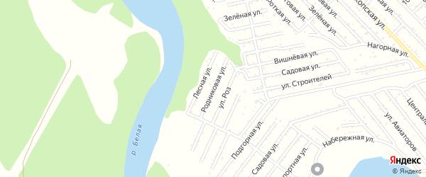 Родниковая улица на карте Красноречия с номерами домов