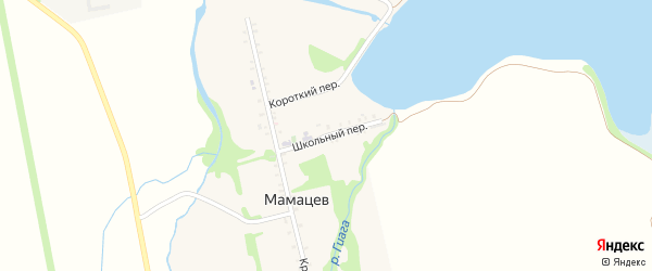 Школьный переулок на карте хутора Мамацева Адыгеи с номерами домов