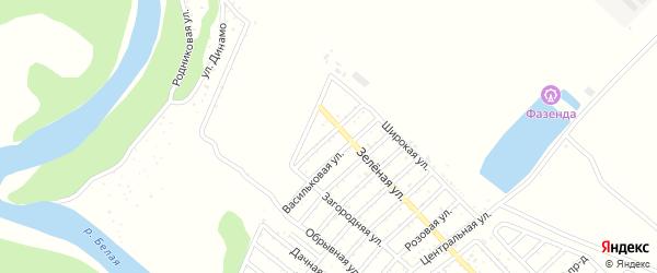 Цветочная улица на карте Лесовика с номерами домов
