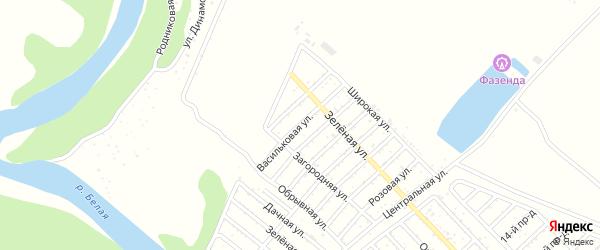 Васильковая улица на карте Деметра с номерами домов