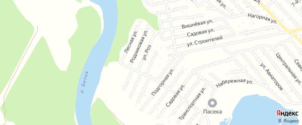 Луговая улица на карте Красноречия с номерами домов
