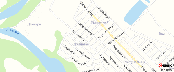 Улица 4 Линия на карте Джанатана с номерами домов