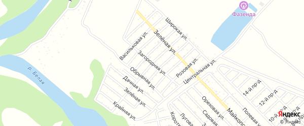 Загородняя улица на карте Джанатана с номерами домов