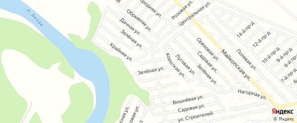 Розовая улица на карте Ромашки с номерами домов