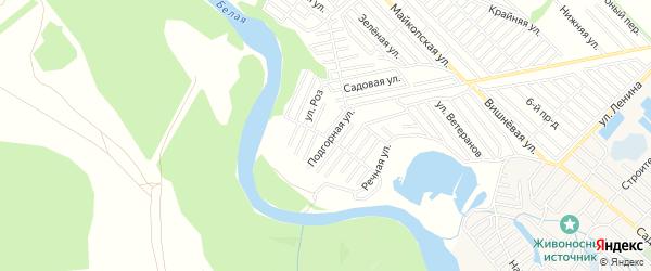 Территория днт Красноречье на карте Майкопа с номерами домов