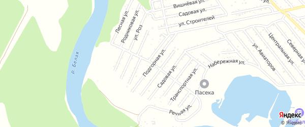 Подгорная улица на карте Красноречия с номерами домов