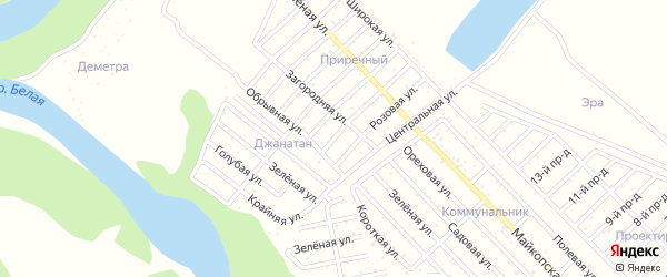 Улица 2 Линия на карте Джанатана с номерами домов