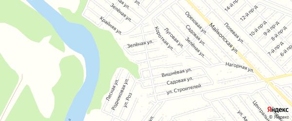 Виноградная улица на карте Авангарда с номерами домов