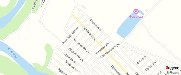 Яблочная улица на карте Ромашки с номерами домов