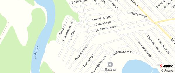 Окружная улица на карте Селекционера с номерами домов