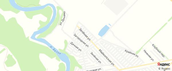 Карта садового некоммерческого товарищества Приречного города Майкопа в Адыгее с улицами и номерами домов