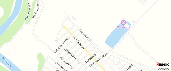 Широкая улица на карте Майкопа с номерами домов