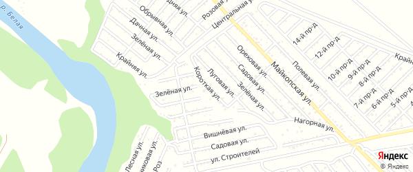 Короткая улица на карте Коммунальника с номерами домов