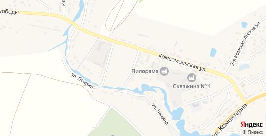 Комсомольская 1-я улица в Кораблино с номерами домов на карте. Спутник и схема онлайн