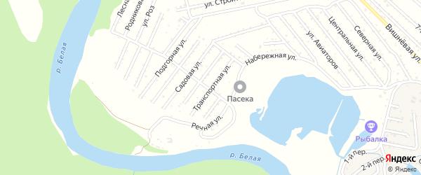 Транспортная улица на карте Красноречия с номерами домов