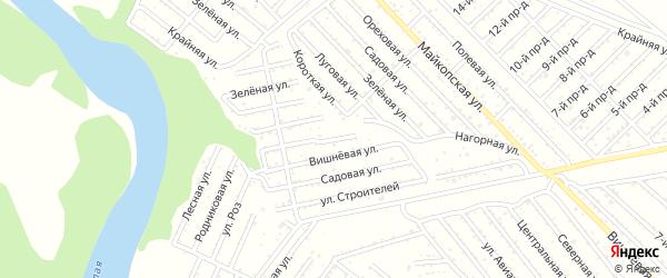 Кольцевая улица на карте Авангарда с номерами домов