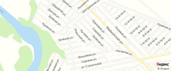Луговая улица на карте Коммунальника с номерами домов