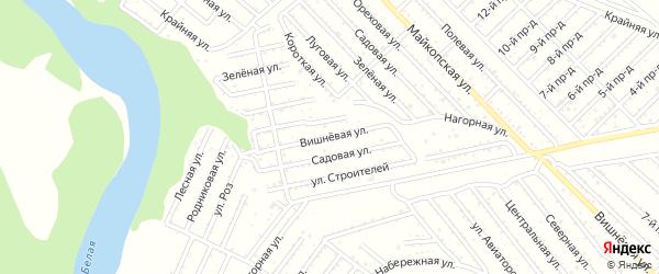 Вишневая улица на карте Красноречия с номерами домов