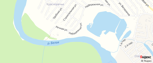 Набережная улица на карте Красноречия с номерами домов